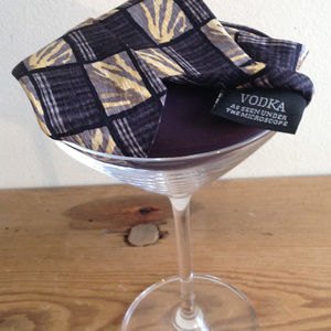 Cocktail Collection VODKA Tie ABSTRACT Gray Yellow